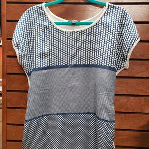 Espresso medium blue/white polka dot short sleeve